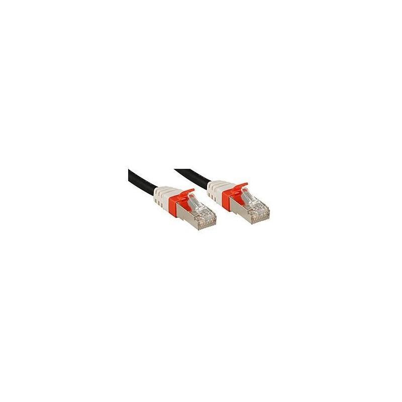 LINDY Câble réseau patch cat.6A S/FTP PIMF Premium, cuivre, 10 Gbit, 500Mhz, LSOH, noir, 15m