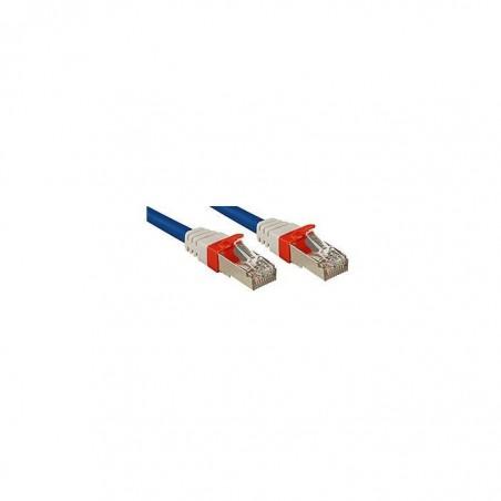 LINDY Câble réseau patch cat.6A S/FTP PIMF Premium, cuivre, 10 Gbit, 500Mhz, LSOH, bleu, 20m