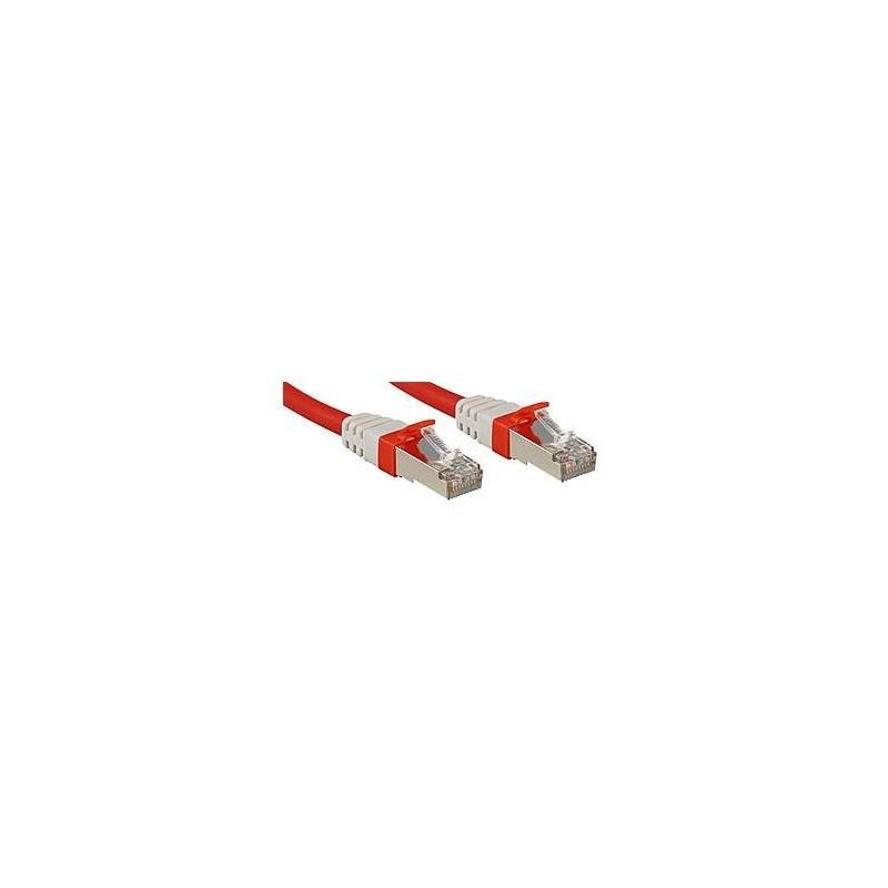 LINDY Câble réseau patch cat.6A S/FTP PIMF Premium, cuivre, 10 Gbit, 500Mhz, LSOH, rouge, 0,5m
