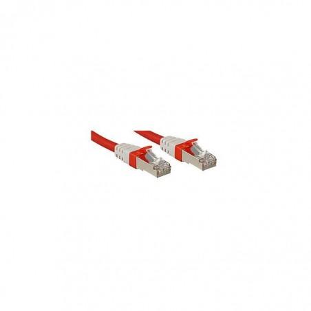 LINDY Câble réseau patch cat.6A S/FTP PIMF Premium, cuivre, 10 Gbit, 500Mhz, LSOH, rouge, 3m