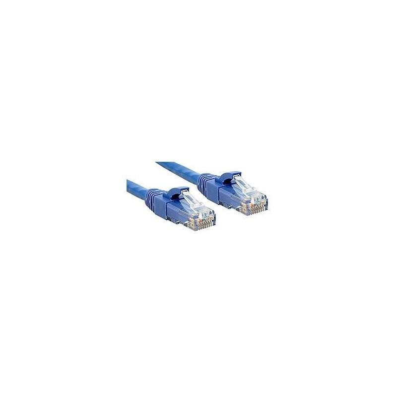 LINDY Câble réseau cat.6 U/UTP Patch Premium, LSOH, cuivre, 250MHz, bleu, 2m