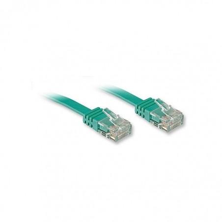 LINDY Câble réseau plat cat.6 UTP, vert, 10m