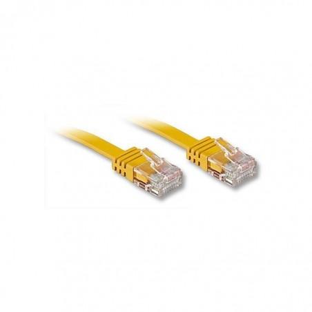 LINDY Câble réseau plat cat.6 UTP, jaune, 10m