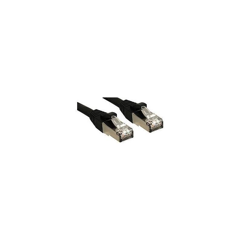 LINDY Câble réseau patch cat.6 S/FTP PIMF Premium, cuivre, LSOH, 500MHz, noir, 0,5m