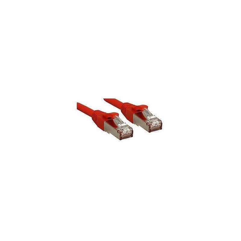 LINDY Câble réseau patch cat.6 S/FTP PIMF Premium, cuivre, LSOH, 500MHz, rouge, 0,3m