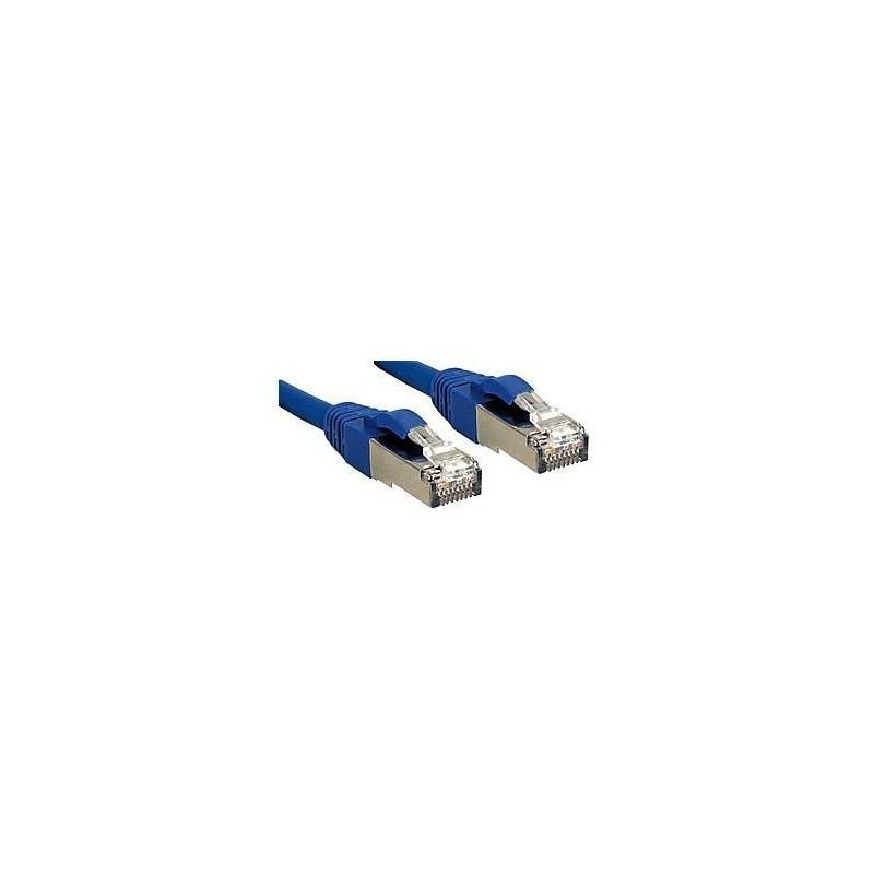 LINDY Câble réseau patch cat.6 S/FTP PIMF Premium, cuivre, LSOH, 500MHz, bleu, 0,5m