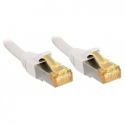 LINDY Câble réseau cat.7 S/FTP, cuivre, LSOH, 600MHz, blanc, 10m