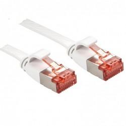 LINDY Câble réseau plat Patch Cat.6 U/FTP, blanc, 2m