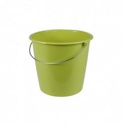 OK Seau avec Anse Métal Rond,10 litres H 26 cm Diam 28,5 cm Vert