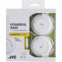 JVC Casque léger avec télécommande et microphone / blanc