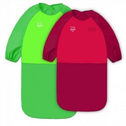 SAFETOOL Tablier en toile cirée Manches longues en polyester- 18/36 mois - coloris rouge