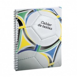 EXACOMPTA Cahier de textes Spiralé Sports foot