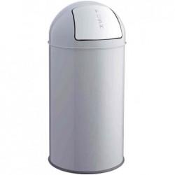 HELIT Poubelle avec clapet, 50 litres, gris