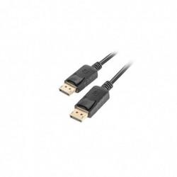 LANBERG Cable DisplayPort Male - DisplayPort Male 1,8 m Noir