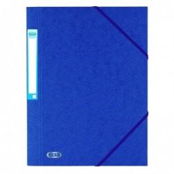 ELBA Chemise 3 rabats en carte lustrée 7/10 ème Bleu