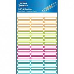 AVERY ZWECKFORM sachet de 51 Etiquettes pour stylos, 31 x 6 mm, assorti