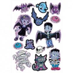 """ZDESIGN Big sticker à paillettes """"Vampires"""""""