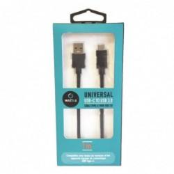 WATT & CO CÂBLE USB 3.0 VERS USB TYPE.C NOIR