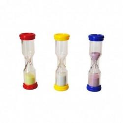CCB Lot de 3 sabliers plastiques 1-2-3 minutes