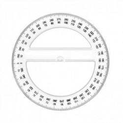 WONDAY TRACAGE PLASTIQUE RAPPORTEUR 360° 12 cm