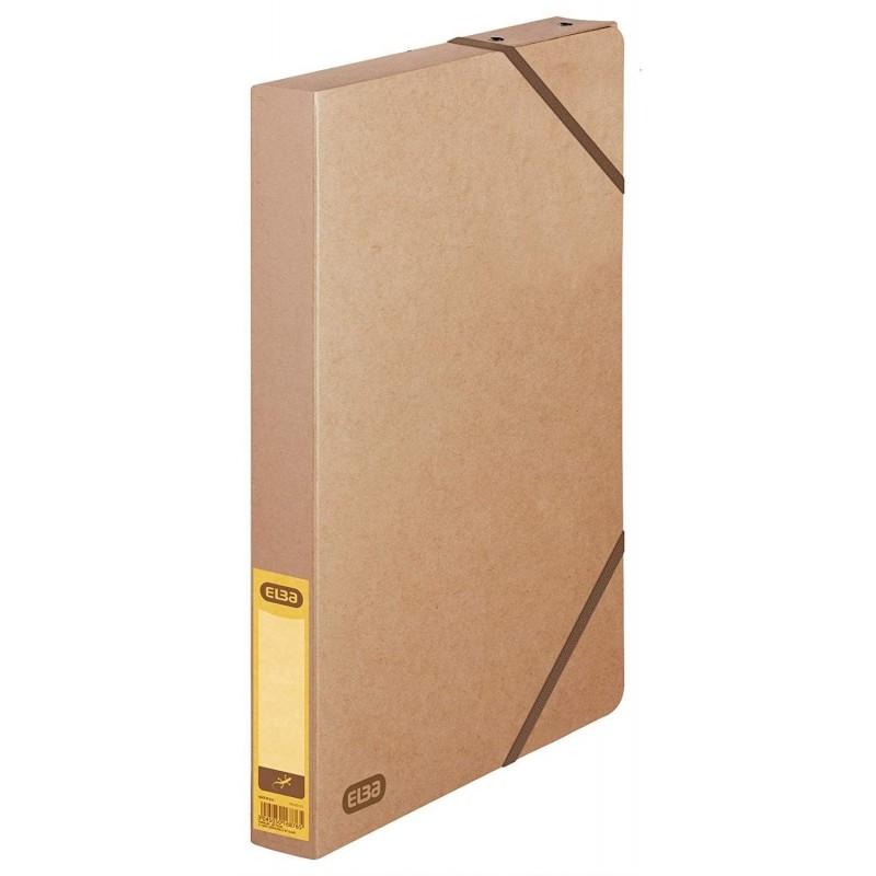 ELBA Chemise de Classement Kangourou Touareg 24 x32 cm dos 35 mm Beige