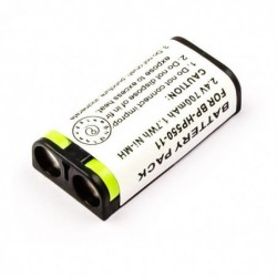 MICROBATTERY Batterie 2 Cellules Ni-MH 2.4V 700mAh 1.7wh pour Headphone