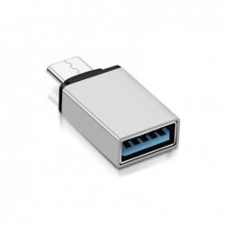 Adaptateur USB Type-C - USB 3.0 Argent