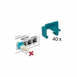 DELOCK Pack de 40 clip de sécurisation RJ45 + clé