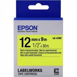 EPSON Ruban LK-4YBF 12mm x 9m Noir sur jaune Fluo