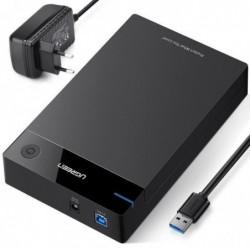 """UGREEN Boîtier Externe pour Disque Dur 3.5"""" USB 3.0 ABS Noir"""