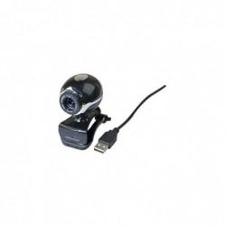 Webcam 1.3 mpixels Usb avec Micro Pince de Fixation et Pied de Bureau