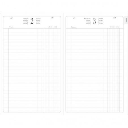 EXACOMPTA Agenda de bureau carré Standard Euros- Cents 1 jour 210x135 mm Coloris Aléatoire