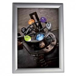 ALBA Cadre porte-affiches CLICA4, A4, cadre alu à charnière