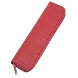 ALASSIO Etui à stylo, pour 2 stylos, rouge