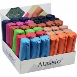 ALASSIO Trousse, cuir véritable, présentoir de comptoir