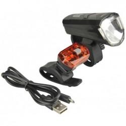 FISCHER Kit d'éclairage LED pour vélo 30/15 Lux