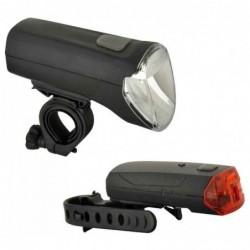 FISCHER Kit d'éclairage LED pour vélo 60/30/15 Lux