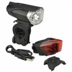 FISCHER Kit d'éclairage LED/USB pour vélo 35 Lux