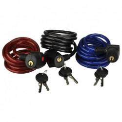 FISCHER Câble antivol pour vélo Family, longueur: 1.800 mm