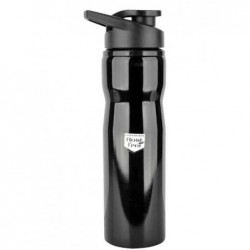 FISCHER Gourde 750 ml pour vélo, acier inoxydable, noir