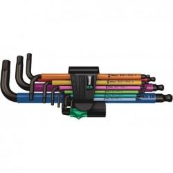 WERA 950 SPKL/9 SM N Multicolor Hex-Plus Jeu de 9 clés 6 Pans coudées avec corps gainé