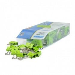 RAPESCO Boite de 80 pinces double clip, (L)19 mm, vert, Smiley