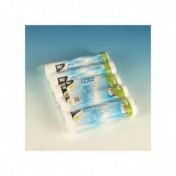 PAPSTAR pack 5 Rouleaux 20 Sacs Poubelle HDPE 60 litres Blanc