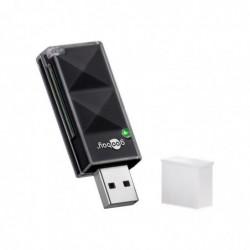 GOOBAY Lecteur de Carte USB 2.0 Micro SD et SD Noir
