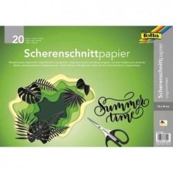 FOLIA Lot de 20 Papier pour découpage silhouette, 350 x 500 mm, noir