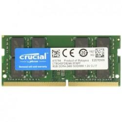 CRUCIAL Mémoire 8GB DDR4 2400 MT/s unbuf SODIMM 260pin DR x8