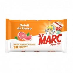 ST MARC Serpillères Jetables Soleil de Corse - 20 Serpillères