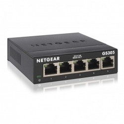 NETGEAR GS305 Switch Ethernet Métal 5 ports Gigabit (10/100/1000)