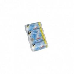 PAPSTAR Pack 4 rouleaux 30 Sacs Poubelle HDPE 10 litres Transparent