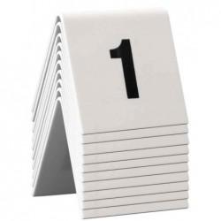 SECURIT Kit Chevalet Numéros de table 1 - 10 Acrylique Blanc